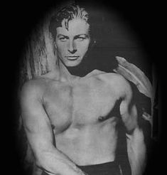 """Lex Barker: """"Tarzan"""" When World War II started, Lex enlisted in the U.S. Army as a buck private. In 1945, after having risen to the rank of major, he was discharged a highly decorated officer who had served honorably in North Africa and Italy where he had been badly wounded."""