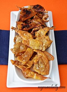 fried chicken skin, crispy chicken skin, chicken skin recipe- I've made these several times and they're really, really delicious...