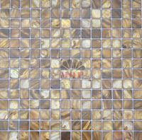 freshwater shell mosaic mother of pearl  tiles  dyeing coppery color column dome background original  fashion  style hot sale