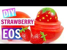 DIY Strawberry EOS | How to Make EOS Lip Balm - YouTube