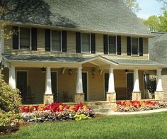 1000 images about front porch ideas on pinterest dutch for Saltbox house plans with porch