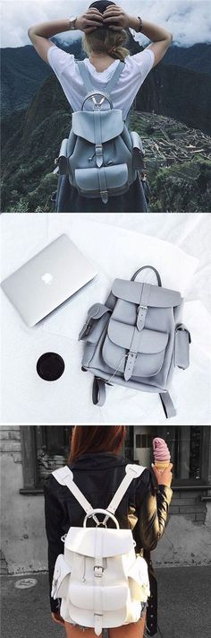 High Jumper Jumping In The Air Girl Leather Backpack Cute Leather Backpack Drawstring Waterproof Fashion Shoulder Bag Leather Bag Backpack For Women