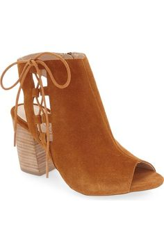 Sole Society 'Freja' Open Toe Bootie (Women) available at #Nordstrom