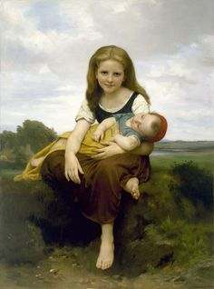 The Elder Sister by Bougereau
