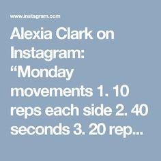 """Alexia Clark on Instagram: """"Monday movements  1. 10 reps each side  2. 40 seconds  3. 20 reps  4. 15 each side  3 ROUNDS  #alexiaclark #queenofworkouts #kettlebells…"""""""