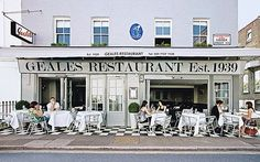 London England.Geales Restaurant...Chelsea, Cale Street...Notting Hill.