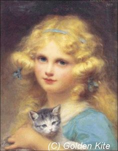 Young Girl Holding a Kitte (small)