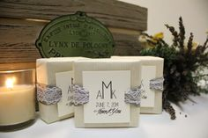 Customized wedding favor soaps
