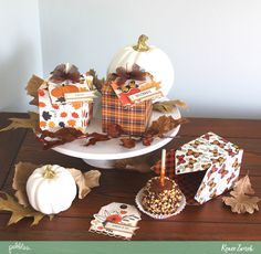 Caramel Apples Quick Gift by @reneezwirek using the #MidnightHaunting collection by @pebblesinc #sponsored