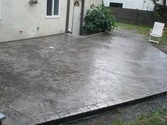 stamped concrete patio designs | Granite textured patio