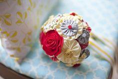 Pinwheel Fabric Flower Bouquet Tutorial