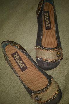 336f12bcba4d MUDD Amber Fabric Floral Ruffle Slip-On Slides Flats Size 6.5M  fashion
