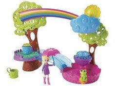 Boneca Polly Pocket Diversão na Chuva - Mattel