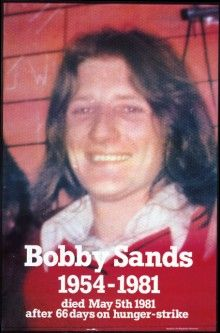 Twenty-seven-year-old Bobby Sands, after enduring years of solitary confinement and beatings, led the 1981 Hunger Strike, during which he was elected as MP for the constituency of Fermanagh & South Tyrone. Bobby Sands, Hunger Strike, Irish Celtic, Celtic Fc, Religion And Politics, Irish Pride, Seven Years Old, Irish Blessing, Fighting Irish