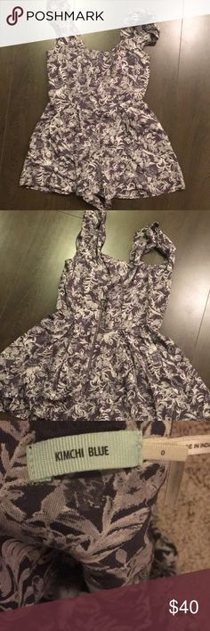 Floral romper Zip up (back)  Romper Urban outfitters Worn once-great condition Kimchi Blue Other