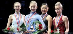 Meet The 2014 U.S. Olympic Figure Skating Team. Polina Edmonds, Gracie Gold, Mirai Nagasu, Ashley Wagner.