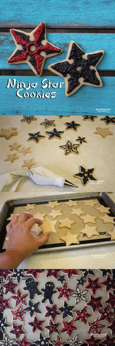 Ninja Star Sugar Cookies!