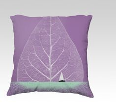 Ocean Wonderland II - Pillow 2 by PIA Schneider | atelier COLOUR-VISION 18x18 pillow #pillow, home, decor, cushion, #radiantorchid #madeincanada #canada