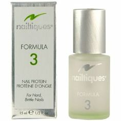 Nailtiques Formula #3 - .5 oz. by Nailtiques. $4.81. This formula is a blended combination of protein and conditioners that will provide the proper balance needed to promote flexibility.. The conditioners help promote flexibility within the nail. Nail Moisturizer is a must for initial treatment when this formula is prescribed, as it will help restore and maintain flexibility within the nail.. Care for Naturally Hard Nails - Naturally hard, dry nails will becom...