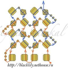 Ndebele with Tila beads and bicones.  Just the diagram.  #Seed #Bead #Tutorial