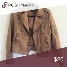 Forever 21 Brown Faux Leather Jacket Forever 21 Faux Brown Leather Jacket Forever 21 Jackets & Coats