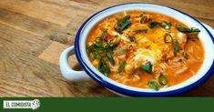 Un caldo con tomate reducido sirve como base a esta sopa, que se viene arriba gracias a un huevo escalfado y una verdura cortada en daditos y cocinada al dente. Dairy Free Recipes, Vegetarian Recipes, Healthy Recipes, Batch Cooking, Cooking Recipes, Pasta Al Curry, Cream Soup, Menu Planning, Healthy Snacks