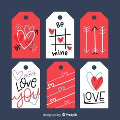 Colección de etiquetas de san valentín v. Valentines Bricolage, Diy Valentines Cards, Valentine Day Crafts, Valentine Decorations, Happy Valentines Day, Printable Stickers, Planner Stickers, Valentines Illustration, Scrapbook Stickers