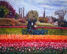Spring in Holland - Full-frontal image, unframed