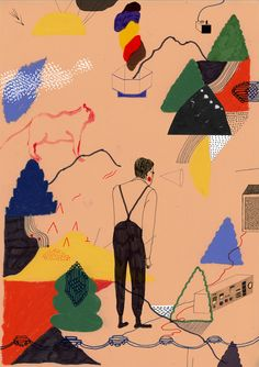 """Heta Bilaletdin is an artist and illustrator """"based in the forest of Miemala, Finland. Graphic Design Illustration, Graphic Art, Illustration Art, Animation, Collage, Grafik Design, Art Plastique, Animal Drawings, Les Oeuvres"""