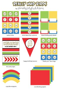 Essential printables - angry birds style.
