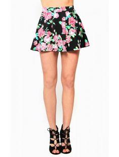 #Floral Femme Skater #Skirt