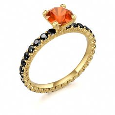 Fireworks Ring #Halloween #Gold #Fireopal #October #Birthstone