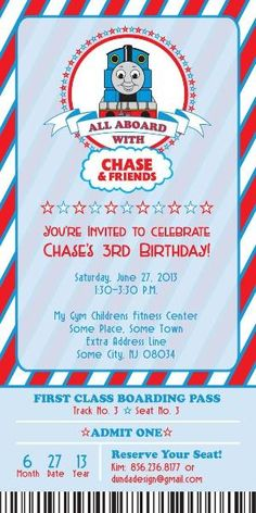 Thomas the Train Birthday Invitation by Maria Matheney