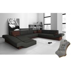 Divine Large 100% Real Leather Corner Sectional Sofa Suite (Left) - (£2499)