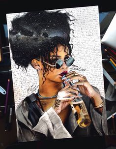 Rihanna painting #talent