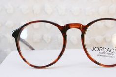 Jordache 134 Tortoise 1980's Round Eyeglasses Oversize Circle by DIAeyewear