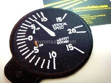 Flight instrument - VERTICAL SPEED - Aviation Patch - AIRBUS BOEING CESSNA PPL
