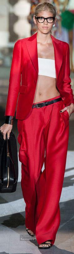 Dsquared² red womens pant suit JEWEL TONE STYLE #UNIQUE_WOMENS_FASHION