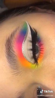 Makeup Eye Looks, Eye Makeup Steps, Eye Makeup Art, Crazy Makeup, Makeup Eyeshadow, Eyeshadow Ideas, Makeup Kit, Bright Eyeshadow, Crazy Eyeshadow