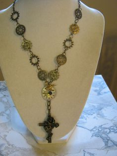 Steampunk Rosary Necklace. $34.50, via Etsy.