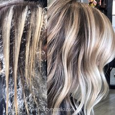 Balayage hair painting technique hair in 2019 окрашивание во Cabelo Ombre Hair, Balyage Hair, Balayage Blond, Balayage Highlights, Hair Color Balayage, Blonde Hair, Hair Painting Highlights, Hair Foils, Bayalage