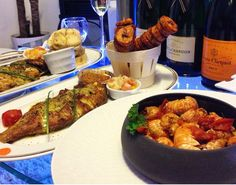 Baked fish and shrimp Ivorian style