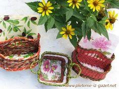 ▬► http://pletenie-iz-gazet.net Видео мастер-класс от Елены Тищенко по плетению из газет ручек для вазочки. В этом уроке мастер продолжает знакомить начинающ...