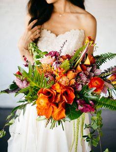 Tropische Brautsträuße