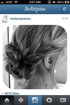 Braid side bun.. Prom hair :)