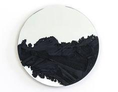 Sand-encrusted Drift series of mirrors by New York artist Fernando Mastrangelo