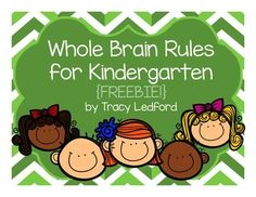 These Whole Brain rules are the ones I use in my kindergarten classroom. They would be appropriate for any classroom where sitting in a seat and raising your hand to speak may not be a standard expectation.