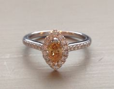 Canary yellow diamond engagement ring.   www.louloujewellery.co.uk