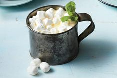 Boozy Buttermint White Hot Chocolate: Everyone will love having dessert and a cocktail in one glass.