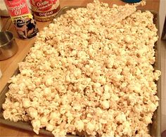 JOY - U NEVER SAW THIS! :) White chocolate popcorn - I use Vanilla Candy Quick instead of Almond Bark, and double or triple recipe.I use a clean trash bags to mix.everyone wants it and every Holiday Season I get phone calls for the recipe! Popcorn Recipes, Candy Recipes, Sweet Recipes, Snack Recipes, White Chocolate Popcorn, Chocolate Peanut Butter, Yummy Snacks, Delicious Desserts, Yummy Food